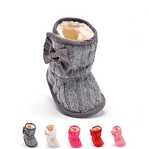 Just easy Krabbelschuhe Winterschuhe Bowknot Plus Samt Schuhe Boots