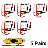 Set of 5 Kayak Ladder Wall Mount Storage Rack Bike Surfboard Canoe Folding Hanger