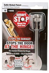 Amazon Com Smart Stop Hinge Pin Door Stop Satin Nickel