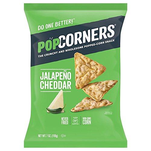 POPCORNERS Original Cheesy Jalapeno, Popped Corn Snacks, Gluten Free, Non-GMO (7oz/12 Pack)