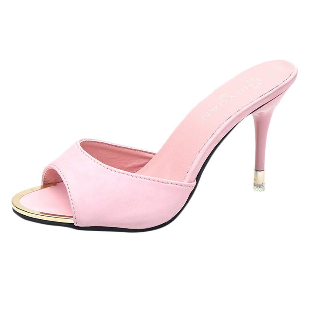 Mode Femmes Sandales D/éT/é Chaussures Parti Haut Talon Stiletto Open Toe Sandales Sandales Femme Talon
