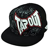 Tapout MMA Mixed Martial Arts Cage Fighting Flat Bill Black Snapback Hat Cap