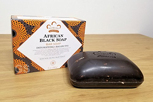 (Nubian African Black Soap 5 Ounce Bar - 12 Count)