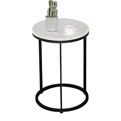 super popular c1f05 c2be6 Amazon.com: Nordic Small Round Table, Household Metal Side ...