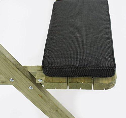 Cojín set Antro para incombustibilidad 6 asiento, 5 cm grueso cojín de banco de jardín, cierres de Velcro, Holanda Pimpyourpicnic: Amazon.es: Jardín