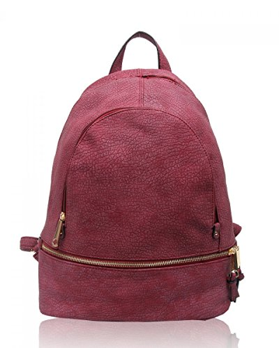 School Leather Backpack Fashion CWJM841 Bags Qualtiy 661 Women's Faux CWS00186A CWS00186 Rucksack Girl's Ladies burgundy Handbag qtSpzAA