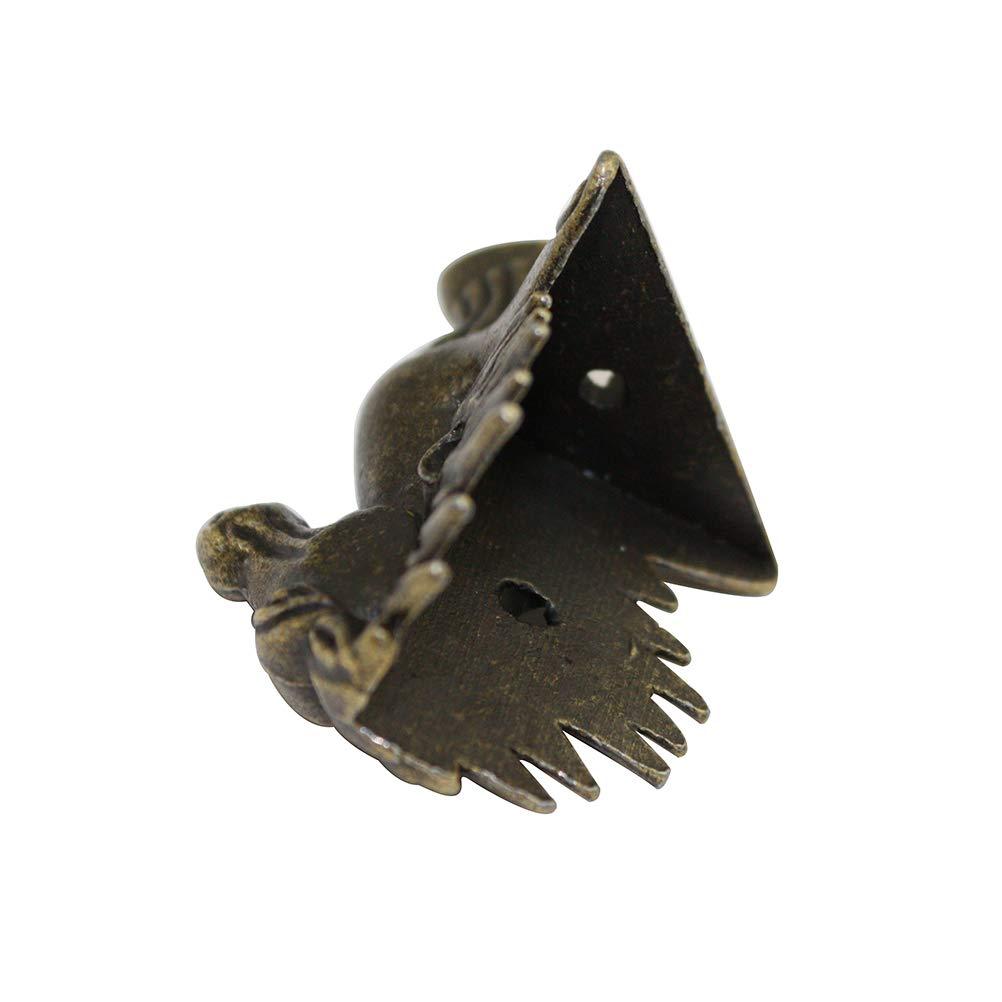Confezione da 20 pezzi in ottone anticato a forma di testa di cavallo scatola regalo decorativa portagioie Vosarea bronzo verde 39 x 24 mm piedini in metallo per goffratura di legno