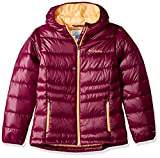 Columbia Girls Gold 550 Turbodown Hooded Down Jacket, Dark Raspberry, Small