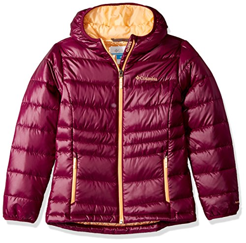 Gold Dark Girls Hooded TurboDown Down Jacket Columbia 550 Raspberry UPgB5nwqx