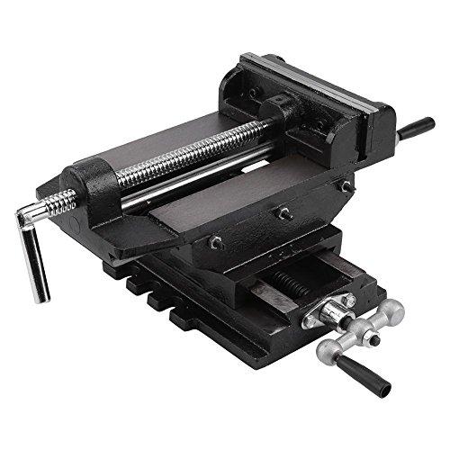 Machine Vise,6inches Cross Slide Drill Press Vise Metal Milling Vice Holder Clamping Bench Mount 4 Cross Slide Vise