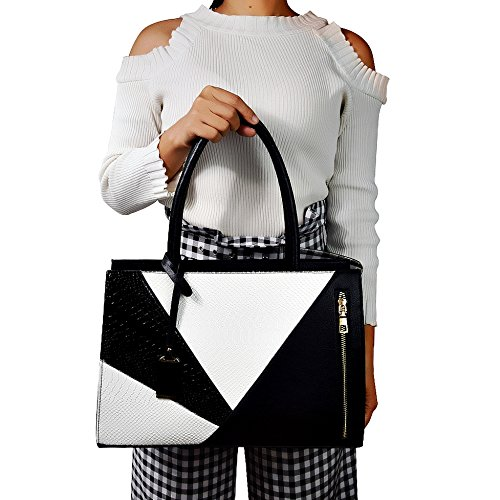 A4 Bag Large Over Women Leather Ladies Briefcase Black Designer PU Female Shoulder Handbag Office Tote For Khaki Serpentine Bag pRpqOv