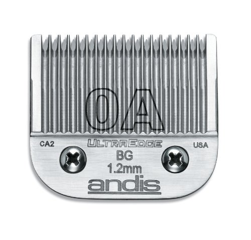 Andis pro carbon-infused steel ultra edge dog clipper blade, 1 Count, Silver 64210