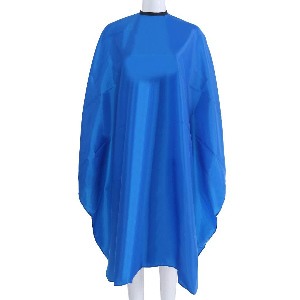 LDA GET Fresh 1PC Adult Waterproof Salon Hair Cut Cloth Hairdressing Barbers Cape Gown Cloth-Blue