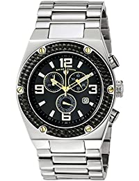 Mens 40025P-11-BB-GA Throttle Analog Display Swiss Quartz Silver Watch