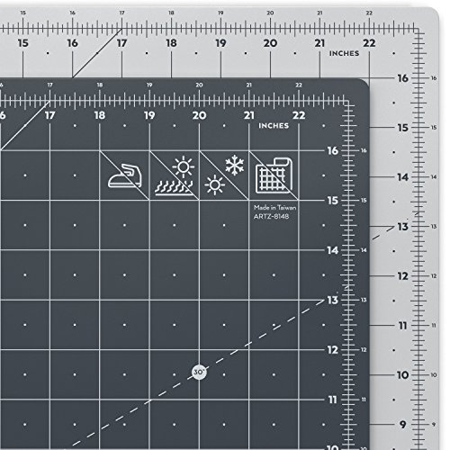 ARTEZA Self Healing Rotary Cutting Mat, 18″x24″ with Grid & Non Slip Surface for Fabric, Paper, Vinyl, Plastic, Eco Friendly, Durable & Flexible, Great for Crafts, Quilting, Sewing, Scrapbooking