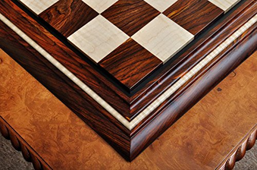 The House of Staunton Signature Contemporary II Chess Board - Cocobolo/Curly Maple - 2.5