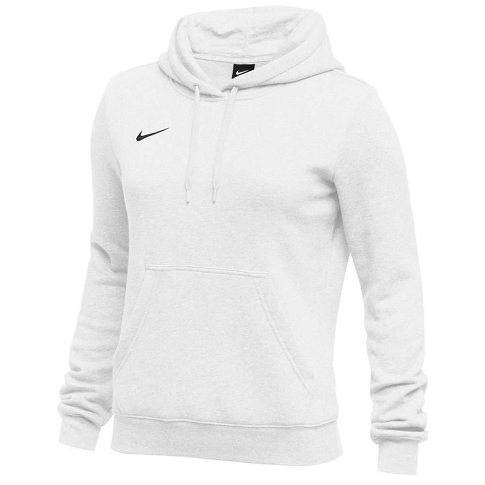 Nike Womens Pullover Club Fleece Hoodie (XX-Large, White) by Nike