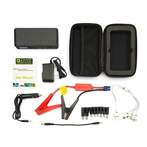UPC 853330006682, Zamp solar 500 amp peak portable car jump starter and phone charger with emergency flash light