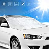 Windscreen cover, innislink car windscreen cover winter protection sun protection front windscreen frost cover ice protection film cover UV protection windscreen with magnetic fixation (210 x 120 cm).