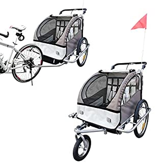Remolque de bici para niños con kit de footing BICICLETAS Y PIRULETAS 1