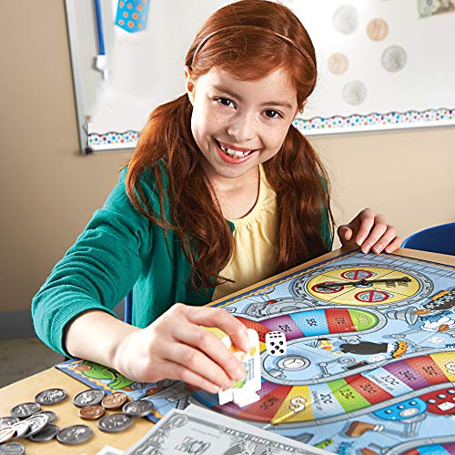 Learning Resources Money Bags Coin Value Game, Money Recognition, Counting Game, Ages 7+