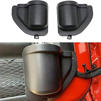BEIJIAOFLY 2PCS ABS Front Door Storage Tray Organizer Car Front Door Pocket Storage Box for Jeep Wrangler JL JLU 2020 2020 2020 Up: Automotive