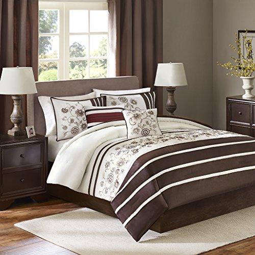 Kathy 5 Piece Comforter Set Brown King price