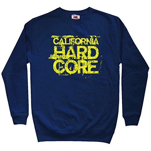 Smash Vintage Men's California Hardcore Sweatshirt - Navy, X-Large