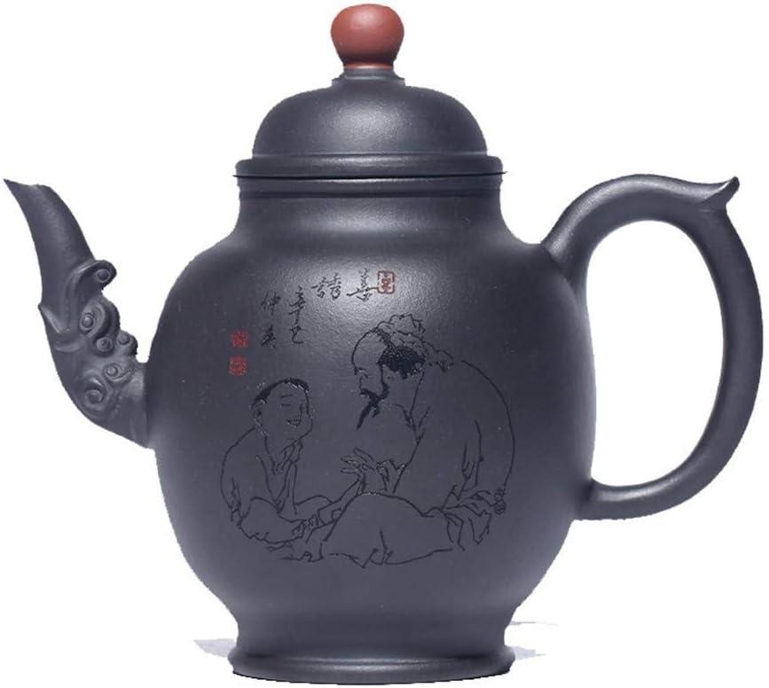 ZJN-JN キントー ティーポット 高級感 おしゃれ プレゼント XinQuan王本物の宜興急須有名な手作り古い古い紫色の粘土は幸運エンジニアリングをティーポット 贈り物