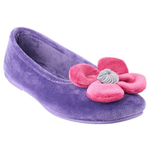 Cotswold Womens / Ladies Leafield Classic Pantofole Nero