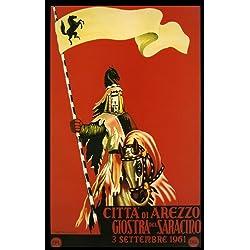"""Arezzo Central Italy Tuscany Travel Italiana Italian 10"""" X 16"""" Image Size Poster Reproduction"""