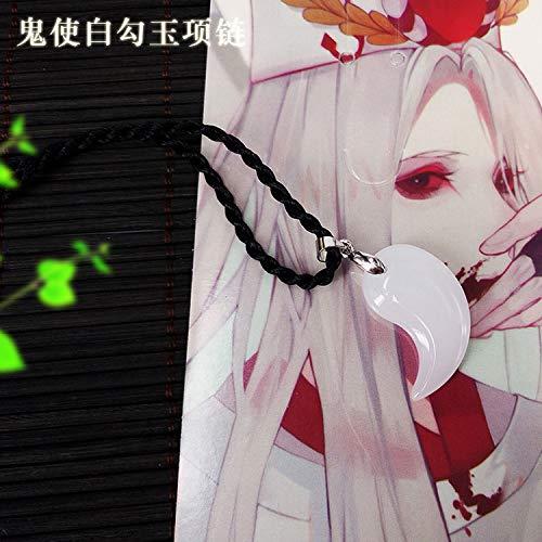 surrounding animation hook jade necklace pendant chain large tengu ibaraki wine swallow yao dao ji second element jewelry grass (white guishi