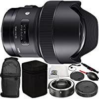 Sigma 14mm f/1.8 DG HSM Art Lens for Canon EF with Sigma TC-1401 1.4x Teleconverter 11PC Accessory Bundle – Includes Dust Blower + Lens Cleaning Pen + MORE