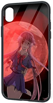 Amazon Com Compatible With Iphone Xr Future Diary Gasai Yuno Death Battle Red Moon Graphics Pretty Soft Tpu Tempered Glass Thin Cover Case Shock Absorption 360 Protective Case For Iphone Xr 6 1 Inch 2018