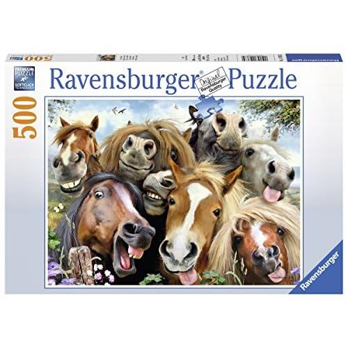Ravensburger Puzzle Selfie de chevaux 500 pièces, 14763
