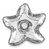 Beatriz Ball 6537 Medium Ocean Starfish Dip Serving Set Silver
