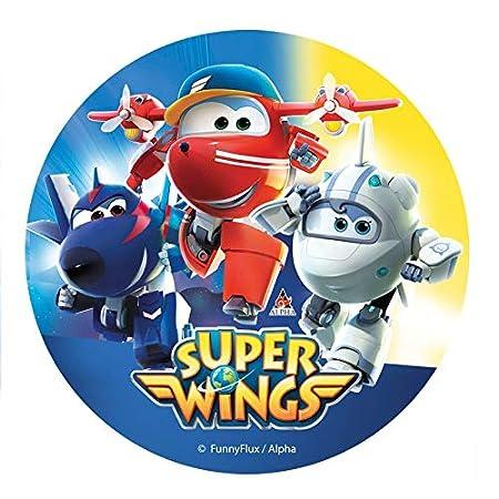 Discos oblea en Foil para Tartas de 20cm (Super Wings)