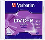 Verbatim 4.7 GB up to 16X Branded Recordable Disc DVD+R 10-Disc Slim Case 95097