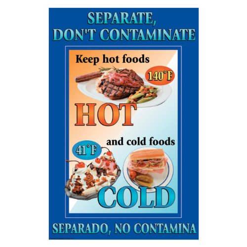 (DayMark IT112103 Laminated Workplace Safety and Educational Poster, Separate Food, Don't Contaminate, 11
