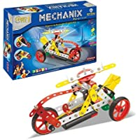TANMAN TOYS Motorized Metal Mechanix Robotics Construction Game Set with All Tools / STEM Category / 114 Pieces / Manual Book / for Kids, Little Engineers