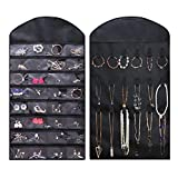 Homeneeds 'Hanging Jewelry Organizer, Hanging Make-Up Organizer' (1, Black)