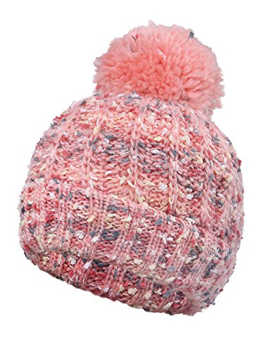 Arctic Paw Adult Chunky Cable Knit Beanie with Yarn Pompom