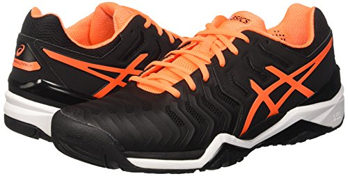 resolution Asics noir Hommes Blanc Sneakers 7 Noir Choquant Orange Gel EFvEawr