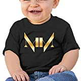 Baby Infant Marilyn Manson Gold Logo Cute Short-sleeve Tee