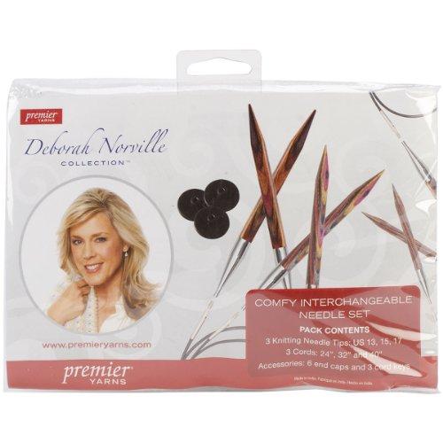 (Premier Yarns Deborah Norville Interchangeable Knitting Set, Sizes 13, 15 & 17)