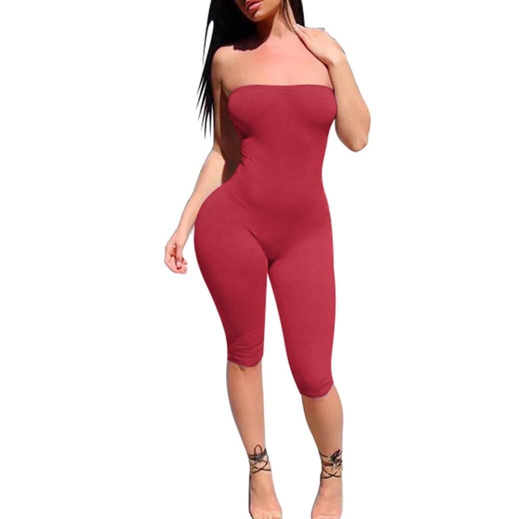 IMJONO.Frauen Damen Clubwear Playsuit Bodycon Party Overall ärmellose Hose   Amazon.de  Sport   Freizeit 7eb3c0249f