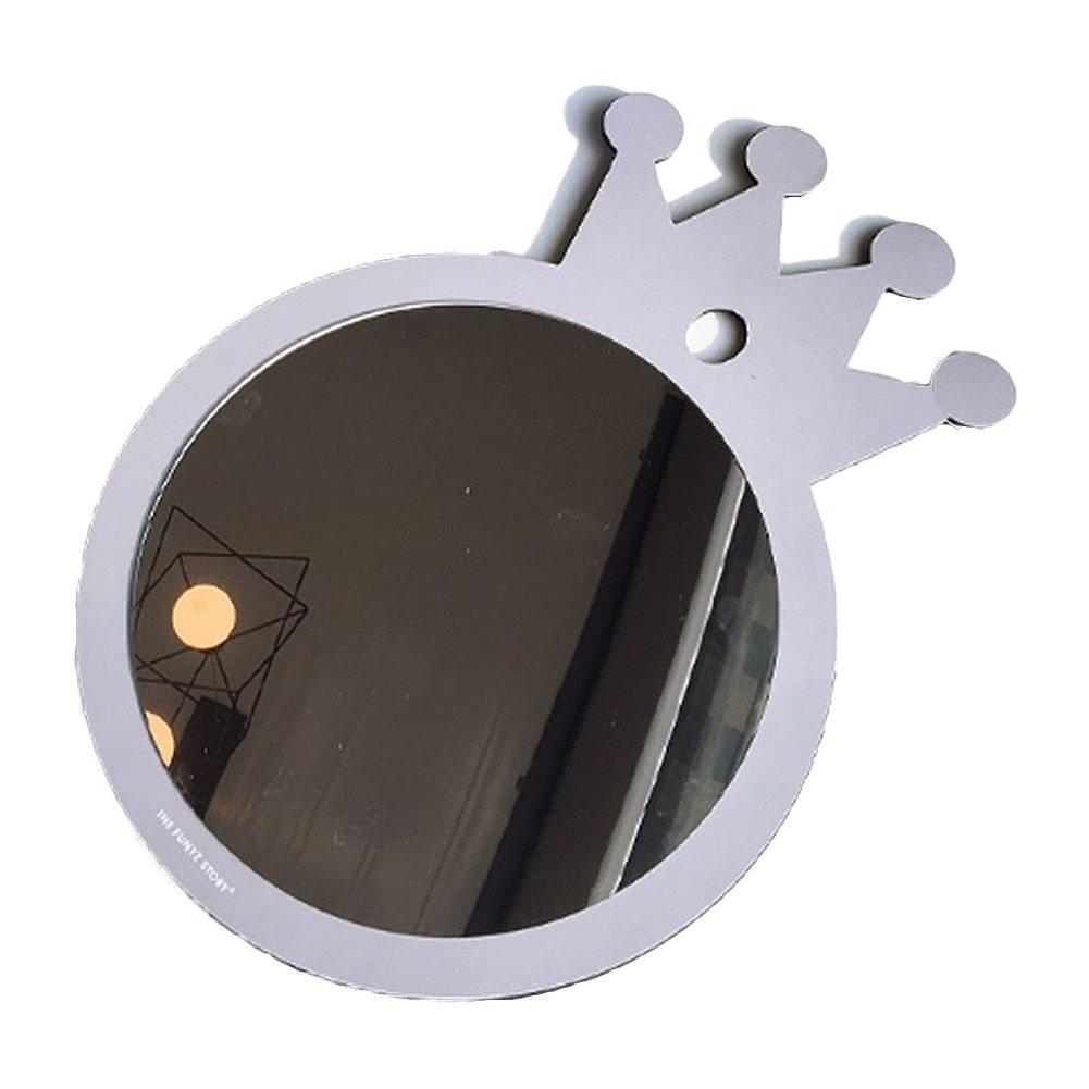 FUNYZ CNC Unbreakable Princess Mirror For Child Kids, Decor Wall Mirror (GREY)