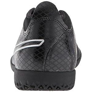 PUMA Men's One 17.4 IT Soccer Shoe, Black Black/Silver, 8.5 M US