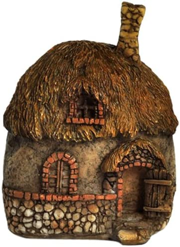 Top Collection Enchanted Story Garden and Terrarium Thatched Roof Fairy House Outdoor Decor