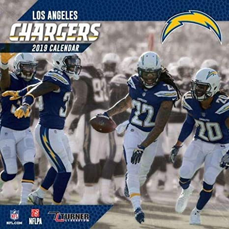 Chargers Wall 2019 Sports Nfl Calendar Team Angeles Los